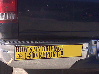 How's My Driving Bumper Stickers